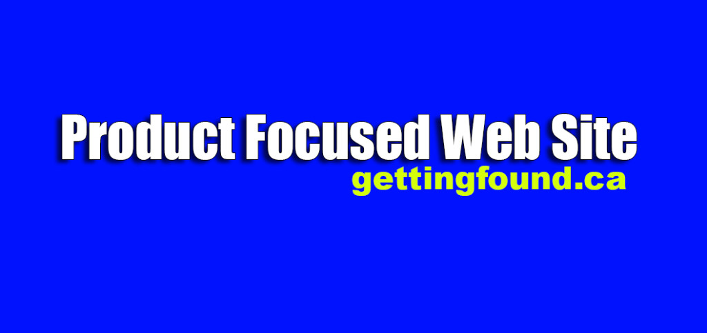 Product Focused Web Site