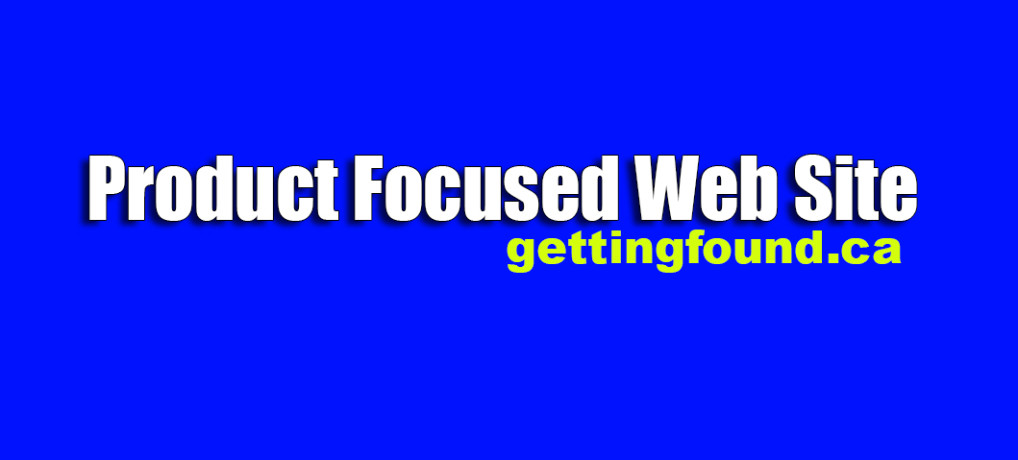 Product Focused Web Site