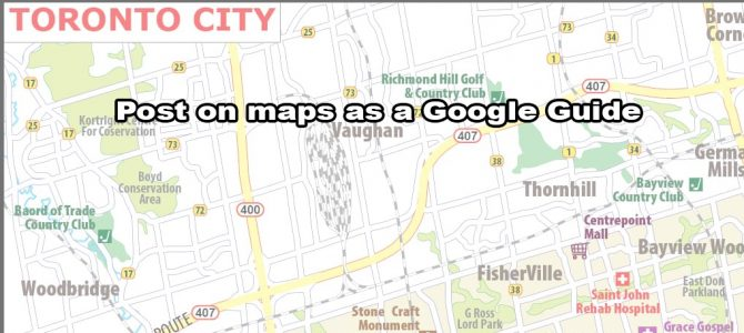 Post on maps as a Google Guide